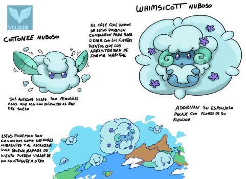 Pokemon Variante-(013) Cottonee-Whimsicott by emiliano-roku