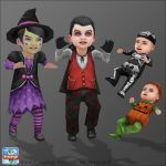 Sims Freeplay - Halloween Dressups by JessBDev
