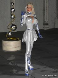 Calista in latex catsuit by Dollproject