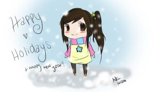 Happy Holidays by Natsumio-Chan