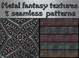 Metal fantasy textures by jojo-ojoj