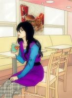 Some Drink And Long Hair by Zarita-chan
