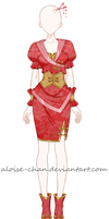 [SOLD] Traditional Outfit Adoptable by Aloise-chan