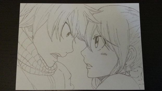 Natsu and Lucy by Elvina42