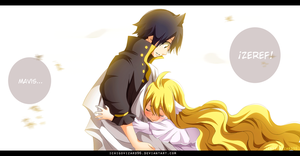 Fairy Tail 449 - Zeref and Mavis by IchigoVizard96