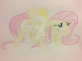 Fluttershy drawing for cowboyjt