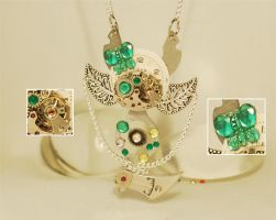 Steampunk 'Keyblade of Nature' pendant necklace by Henri-1