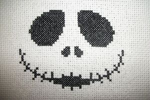 Jack Skellington Head(Glow in the dark)1 by gamerwolff