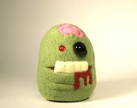 Mini Zombie Pocket Mouth Monster Plushie by Saint-Angel