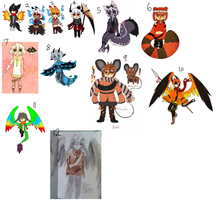 Selling ocs {Points - OPEN} by Blood-Raven-Adopts