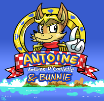Antoine and Bunnie Title Screen by raizy