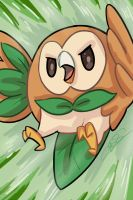 POKEMON - Rowlet by taitsujin