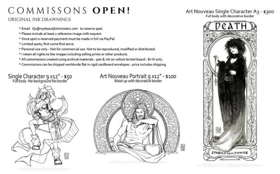 Commissions Open Feb 2018 by MyBeautifulMonsters