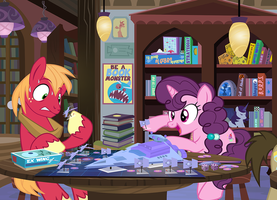 Tabletop Night- Big Mac and SugarBelle by PixelKitties