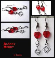 Bloody Merry earings by Marchia