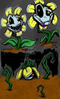 Dimensiontale Flowey -colored- by catgir