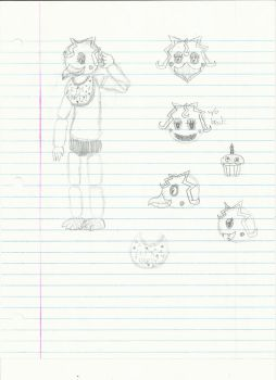 School Sketches 10-Toy Chica by AdmiralNighton