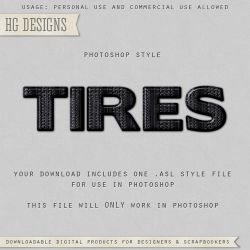 PS Style: TIRES by HGGraphicDesigns