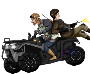 Riding off (Colored) by Eva-TheUndeadSoldier
