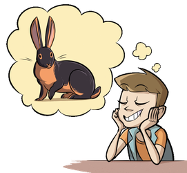 Unproductive Rabbit Thoughts by TheCau