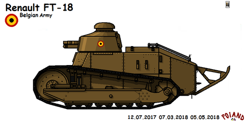 Renault FT-18 Gun by P0landWW2