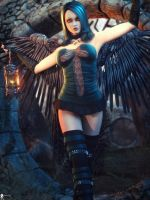 Black Angel 4 by LaMuserie