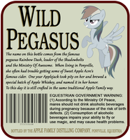 Wild Pegasus Label - Rear by fancycat2008