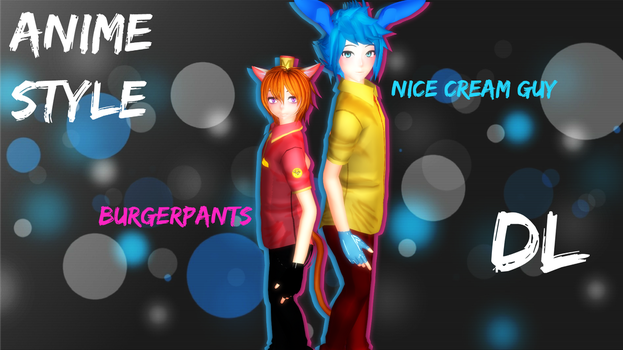 MMD Undertale NCG and BP Anime Style (DL) by Foxvinny-art