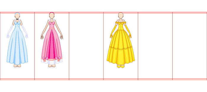 SSMU Female Frontview Disney Clothes Template-WIP by xavs-pixels
