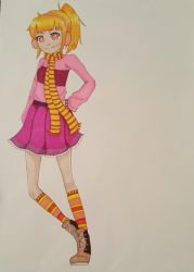 Scarf girl coloured by DarkSirap