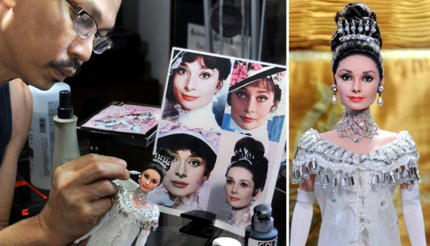 My Fair Lady Audrey Hepburn custom repainted doll by noeling