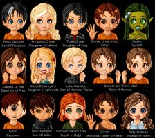 Percy Jackson Characters by krystenperes