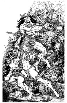 Conan and Red Sonja 11x17 commission by stvnhthr
