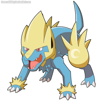 My Favorite Electric Type of 2015- Manectric by GeneralGibby