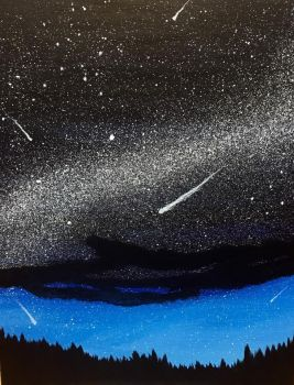 Meteor Shower - Acrylic Painting by emi1296