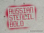 Russian Stencil Bold font by Staurland