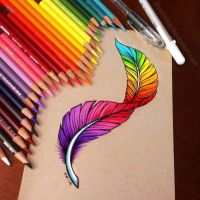 Rainbow Feather - Commission by dannii-jo