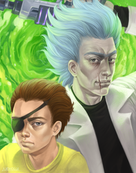 Evil Rick and Morty by Nidhogge