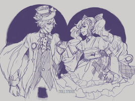 hatter and alice by DD1992