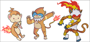Chimchar, Monferno, Infernape