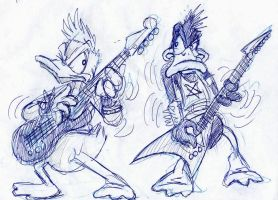 ultrafast sketch: donald vs daffy by Drago-the-Dark-Klown