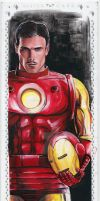 MARVEL PREMIER 2017 SKETCH CARD - IRON MAN by FredIanParis
