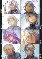 Process- Gale art evolution 2010 to 2018 by christon-clivef