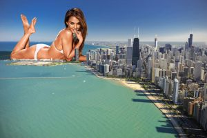 Jessica Alba Giantess by GiantessInsanity