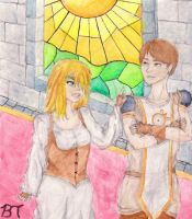 Kaitlyn and the Castle Guard by sparkling-burrito95