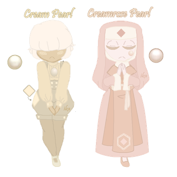 PAYPAL PEARL ADOPTS: Rose Cream Cuties [CLOSED] by InvaderIka