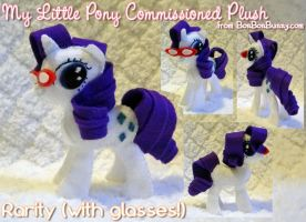 MLP Plush Rarity w Glasses by Bon-Bon-Bunny