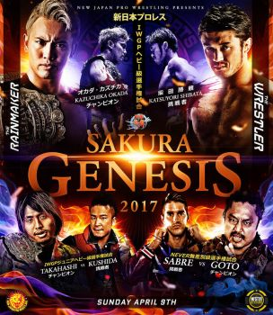 NJPW Sakura Genesis Custom Poster by THE-MFSTER-DESIGNS