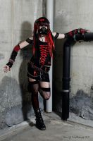 Cyber Goth Red 2 by Kimidori-apple
