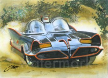 Batmobile ala Barris sketch card by SteveStanleyArt
